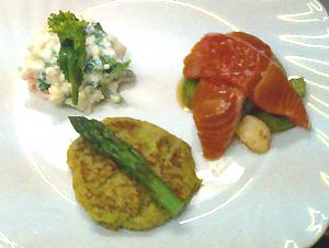 地元の食材を生かした前菜の一例